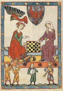 Art du jeu, jeu dans l'art de Babylone à l'Occident médiéval dans Actualités 398px-Meister_der_Manessischen_Liederhandschrift_004-209x300
